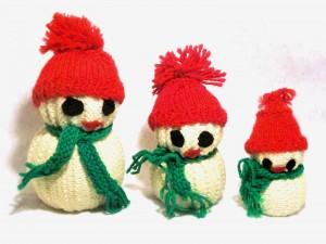 muñeco de nieve tejido Jo Naylor